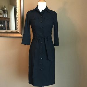 Banana Republic collared button front dress